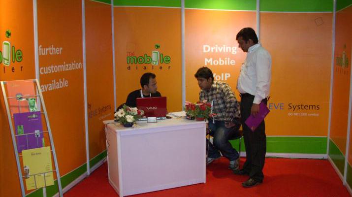 REVE Systems at Convergence India 2009, New Delhi, India