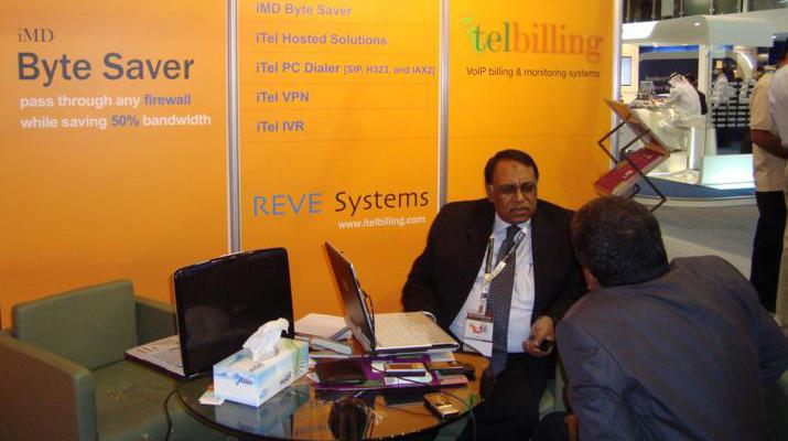 REVE Systems at GULFCOMM 2008, Dubai, UAE.