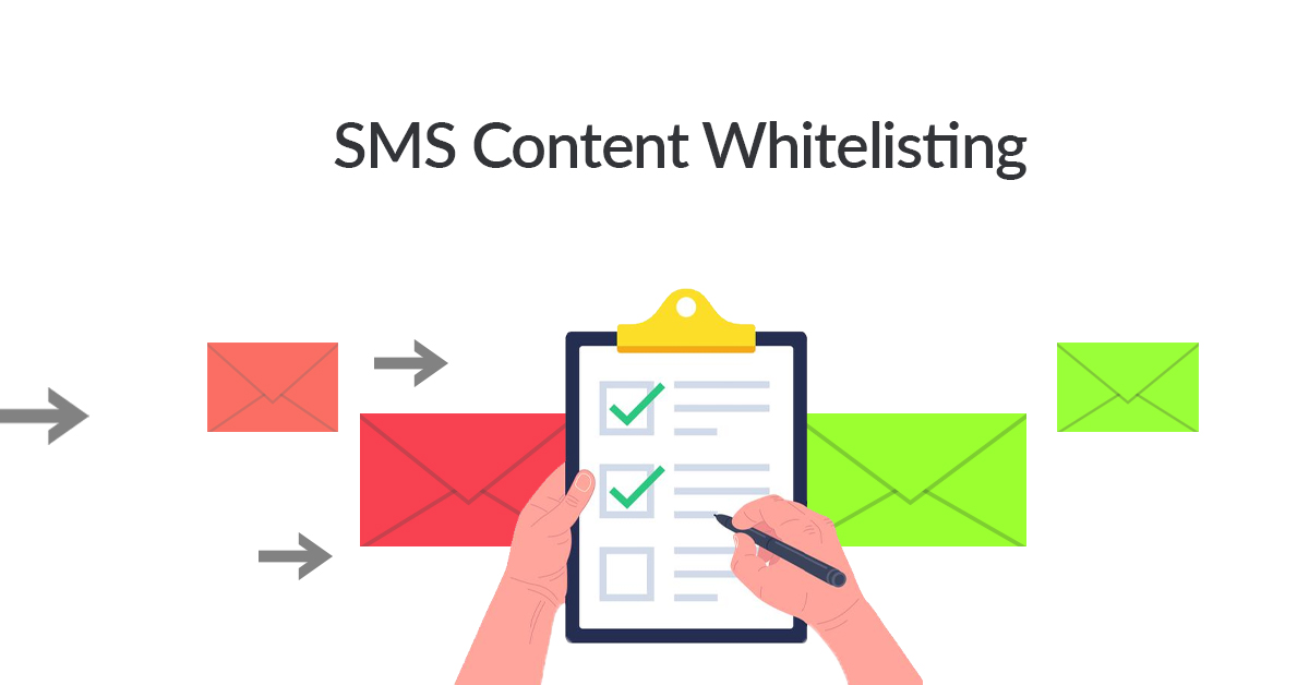 sms content whitelisting