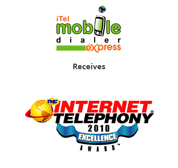 iTel Mobile Dialer Express has received IP Telephony-2010 Excellence Award